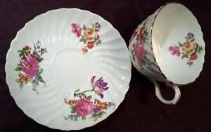 AYNSLEY FINE ENGLISH BONE CHINA - CUP AND SAUCER