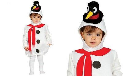 Schneemann Kostüm Baby und Kleinkinder bis 2 Jahre Schneepuppe 41589-41590