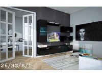 RICO C 26 FURNITURE/ WALL UNIT/ LED LIGHTS/ WHITE*BLACK*SONOMA !!FREE DELIVERY!! CASH ON DELIVERY!!