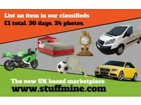 StuffMine - the UK based marketplace to buy & sell stuff - up to 24 photos - £1 for 30 days
