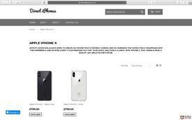 APPLE IPHONE X - UNLOCKED - DIRECT IPHONES