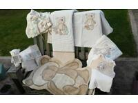 Mothercare please look after me baby bedding set cot set coverlet duvet curtains rug