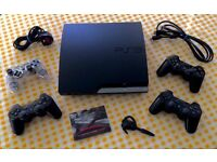 PS3 Slim, 14 Games, Official Singstar Microphones & Official Bluetooth Headset