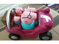 Peppa pig musical and talking push along car