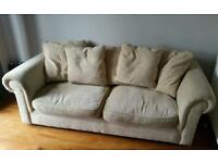 3seater sofa duck filled cushions