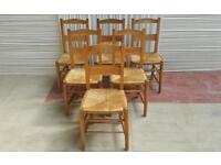 Vintage church chairs for cafe or restaurant