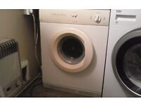 White knight tumble dryer, reverse action sensodry, with venting kit, works well, off white colour