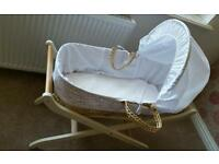 moses basket mothercare with bedding excellent condition can deliver