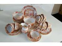 36 piece vintage tea set