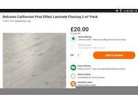 1 full unopened pack of laminate flooring