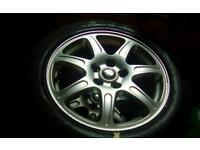 R16 5 stud jaguar x type car alloy wheels - 205-55-r16 tyres