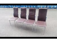 four kitchen chairs in good condition ,possible delivery