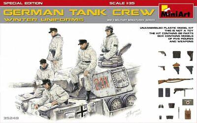 German Tank Crew ( Winter Uniforms) WWII (5 Figures) 1/35 MiniArt  35249