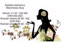 Eyelash extensions Manchester