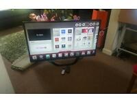 Lg 47 inch super slim led smart 2xremote control