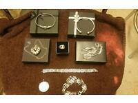 Asst 925 silver jewellery