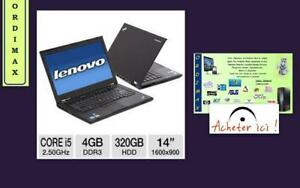 "Laptop  IBM  LENOVO Think Pad  T420S  INTELCORE   i5  /14 po ""  / 4 Gb  Me moire  / 250 Gb Disque  Dure très mince !!!"