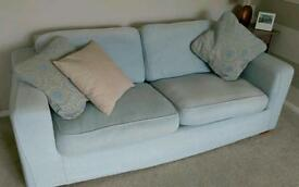 Light blue Next sofa-bed.