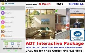 ADT Security Alarm System /Camera .. FREE Install.. FREE Camera, 6 MONTH FREE