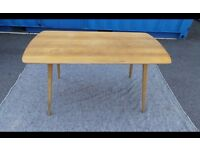 Vintage Ercol Dining Table Blonde 'Plank' Style circa 1960's,Need Restoration