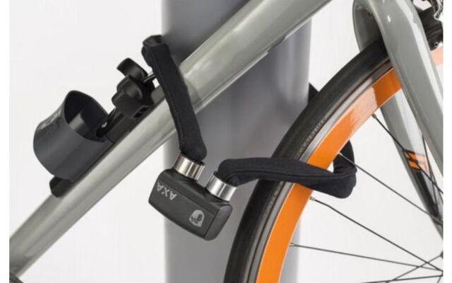 AXA FOLDABLE 600 Faltschloss 95cm Dunkel Grau Fahrrad Falt Schloss mit Schlüssel