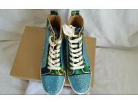 louboutin ladies high top trainers very good only one pair