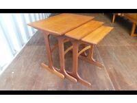 Retro Teak Nest Of 3 Side Tables
