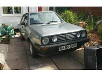 Vw Mk2 golf type 19 running project