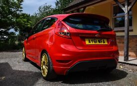 Ford Fiesta Zetec S TDCi 24ct Gold, red, modified, great car!