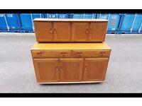 Stunning Vintage Blonde Ercol Sideboard Dresser Cabinet,Can Deliver