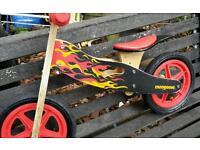 Mongoose wooden balance bike