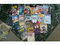 Old comics 1990s and paper 1980s