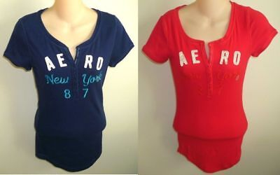 Womens AEROPOSTALE Aero New York Athletic Henley T-Shirt NWT (Athletic Henley)