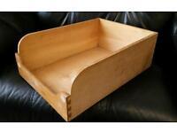 Vintage wooden haberdashery filing tray / drawer (x12)
