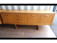 Retro Vintage Mid Century 1960s 1970s Teak Sideboard Cabinet,Can Deliver