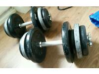 Heavy duty dumbells and weights