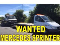 MERCEDES SPRINTER 308D - 310D - 312D - 412D ANY CONDITION WANTED