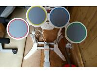 Wii rock band Drum set with 2 Keys.