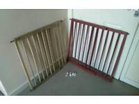 Wooden child safety gates two