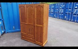 Solid Pine Quality Wardrobe,All 100% Solid Wood