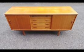 Rare 1960's Clausen and Son Danish Teak Sideboard Credenza,Can Deliver