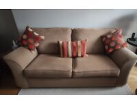 Sofa, 2 armchairs and footstool JB McLean supplied