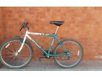 "Mountain bike Giant 26 x195 wheels shimano gear set frame size 19 """
