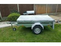 New Brenderup car trailer 1205s tipping model kippi 200 flat cover free.