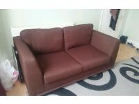 DFS two seater brown sofa bed