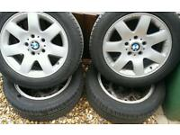 Genuine bmw 15 inch alloy wheels