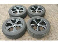 GENUINE KAHN RSC ALLOY WHEELS SUPERB TYRES 5X120 BMW X5 VW T5 VIVARO LAND ROVER RANGE ROVER TRAFIC