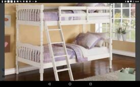 Brand new still boxed white bunk bed, similar almost same as pictured