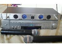 AWF KARAOKE MUTI DISC PLAYER mics 200+ disc