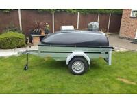 New Brenderup Car trailer 1205s tipping model kippi 200 with ABS LID.